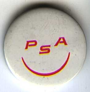 PSA smile button, 1969
