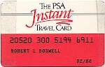 Instant travel card, 1980s