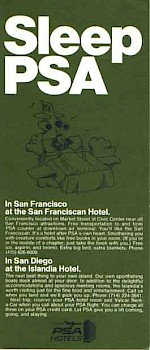 PSA Hotels Seatback card, 1971