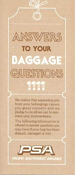 Baggage Policies Brochure, 1980s