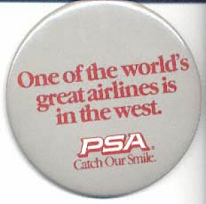 1980s World's great airlines button