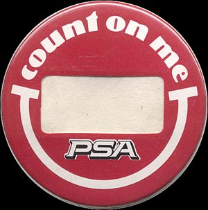 1982 Count on me and PSA button