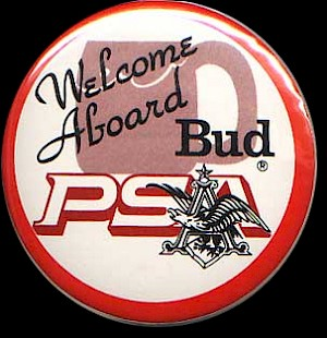 1982 Welcome aboard Bud button
