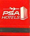 1971 PSA Hotels Matchbook