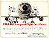 L-1011 First Flight Certificate, 1974.