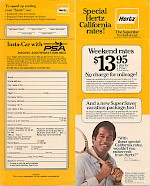 Hertz Instant-Car seatback card, 1977